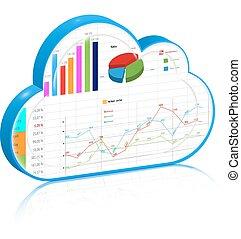 concetto, affari, calcolare, processo, amministrazione, nuvola
