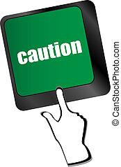 concetto, affari, esposizione, attenzione, chiave, tastiera, assicurazione