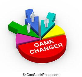 concetto, affari, gioco, alleanza, commutatore, 3d