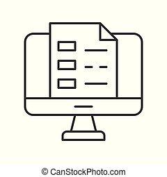 concetto, affari, o, desktop, schermo, educazione computer, documento