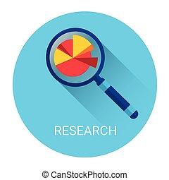 concetto, affari, ricerca, vetro, ingrandendo, icona