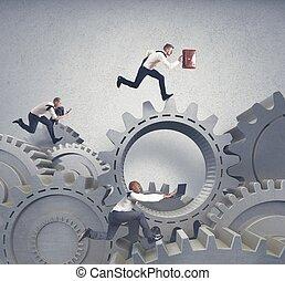 concetto affari, sistema, concorrenza