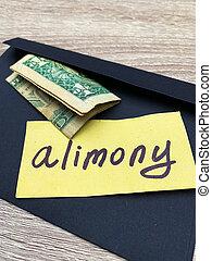 concetto, alimenti, divorzio, pagamento