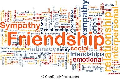 concetto, amicizia, fondo