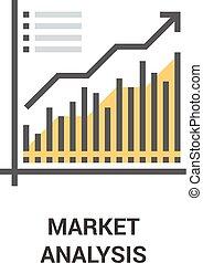concetto, analisi mercato, icona