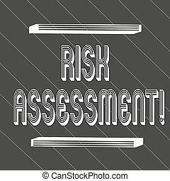concetto, assessment., testo, proiettato, inclinandosi, spesso, 45, seamless, potenziale, nero, bianco, rischi, rischio, zebrato, significato, coinvolto, linee, magro, valutazione, attività, scrittura, degrees.