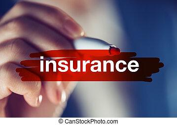 concetto, assicurazione affari