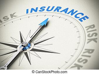concetto, assicurazione, assicurazione, o