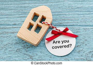 concetto, assicurazione casa