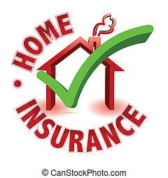 concetto, assicurazione, casa