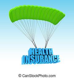 concetto, assicurazione sanitaria, illustrazione, 3d