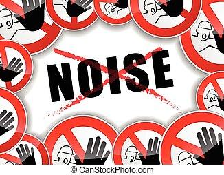 concetto astratto, rumore, no
