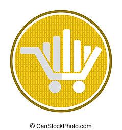 concetto, automobile, shopping, mercato, icona