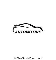 concetto, automobilistico, vettore, disegno, sagoma, automobile, logotipo