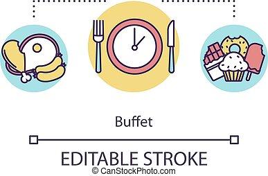 concetto, buffet, icona
