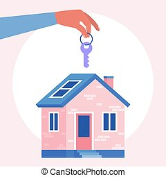 concetto, casa, acquisto