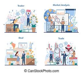 concetto, casato, analysis., mercato, set., investimento, finanziario, commerciante