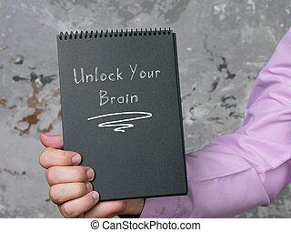 concetto, cervello, segno, aprire, tuo, significato, motivazionale, sheet.