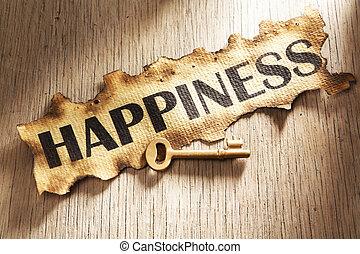 concetto, chiave, felicità