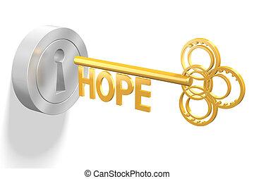 concetto, -, chiave, speranza, 3d