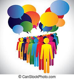 concetto, &, comunicazione, ditta, -, vettore, interazione, personale