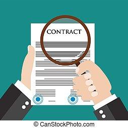 concetto, contratto, ispezione