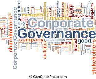 concetto, corporativo, governo, fondo