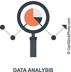 concetto, dati, analisi, icona