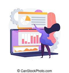 concetto, dati, metaphor., statistico, vettore