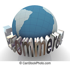 concetto, ecommerce, 3d