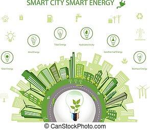 concetto, energia, far male, città