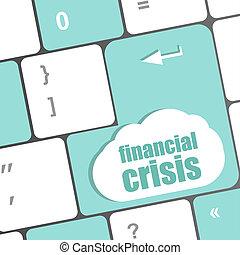 concetto, finanziario, affari, esposizione, crisi, chiave, assicurazione