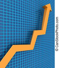 concetto finanziario, crescita, affari