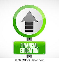 concetto finanziario, educazione, segno strada