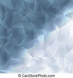 concetto, fondo, astratto, cristallo, sagoma, fractal