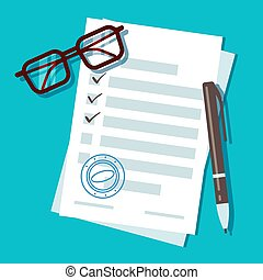 concetto, forma, prestito ipotecario, domanda, vettore, documento