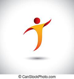 concetto, graphic., sport, aerobica, rotazione, persona, -, anche, ballo, yoga, ballo, illustrazione, icona, mosca, rappresenta, come, questo, ecc, vettore, equilibrismo, attività, ginnastica