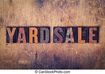 concetto, iarda, letterpress, legno, vendita, tipo