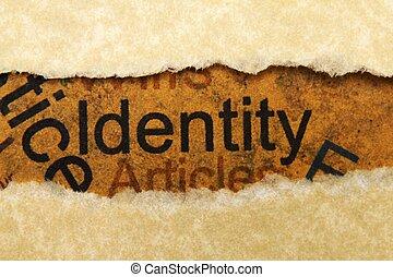 concetto, identità