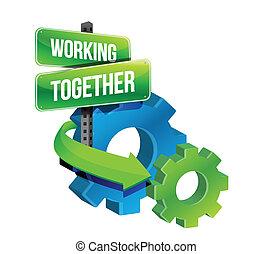 concetto, lavorare insieme, ingranaggi