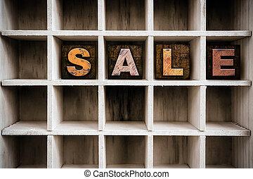 concetto, letterpress, legno, vendita, cassetto, tipo