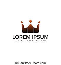 concetto, logos., persone, comunicazione, corona, disegno, sagoma, logotipo, gruppo