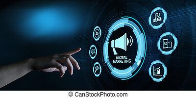 concetto, marketing, strategia, contenuto, pianificazione, pubblicità, digitale