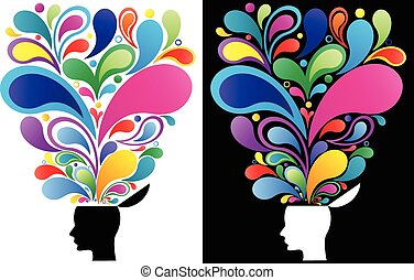 concetto, mente, creativo