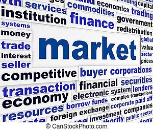 concetto, mercato, parole, creativo