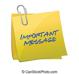 concetto, messaggi, importante, posto-esso