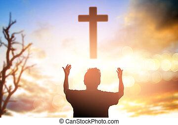 concetto, migrant, destra, morale, umano, preghiera, fiducia, adorare, cattolico, pregare, dio, libertà, religione, innalzamento, nero, cambiamento, risposta, cristiano, audace, potere, libero, dolore, fondo, hands., pietà, fasting., amnesty, trionfo