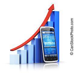 concetto, mobile, finanza, bancario