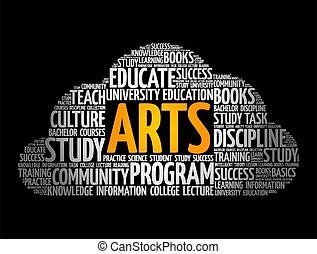 concetto, nuvola, educazione, arti, parola