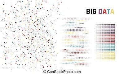 concetto, ordinamento, grande, illustrazione, vettore, data.